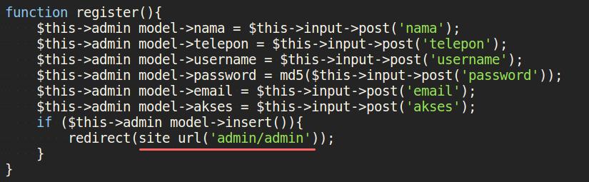 Penggunaan Site URL untuk redirect