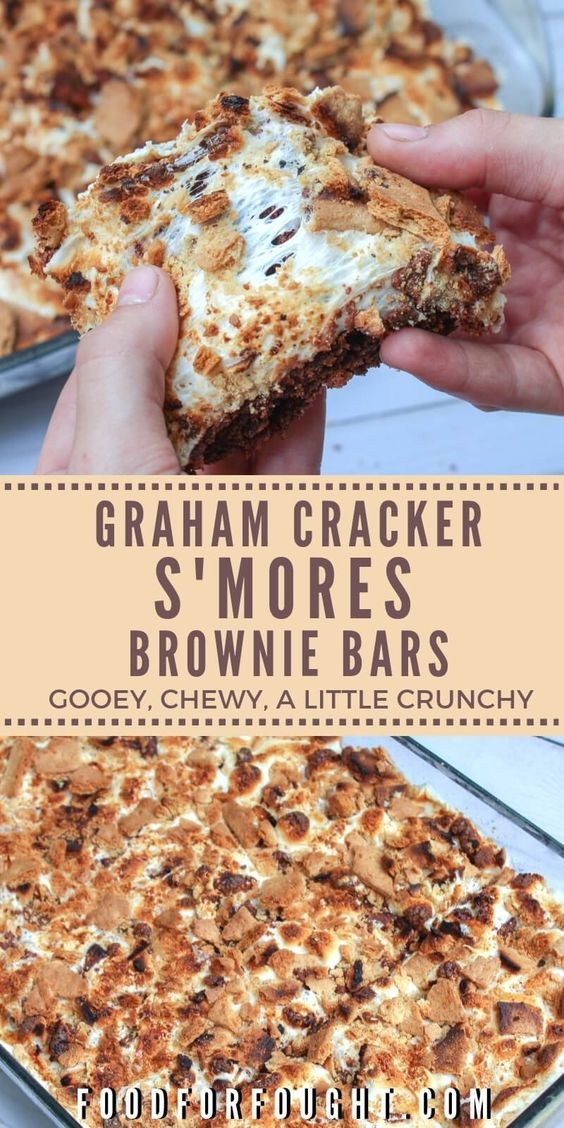 Graham Cracker S'mores Brownie Bars