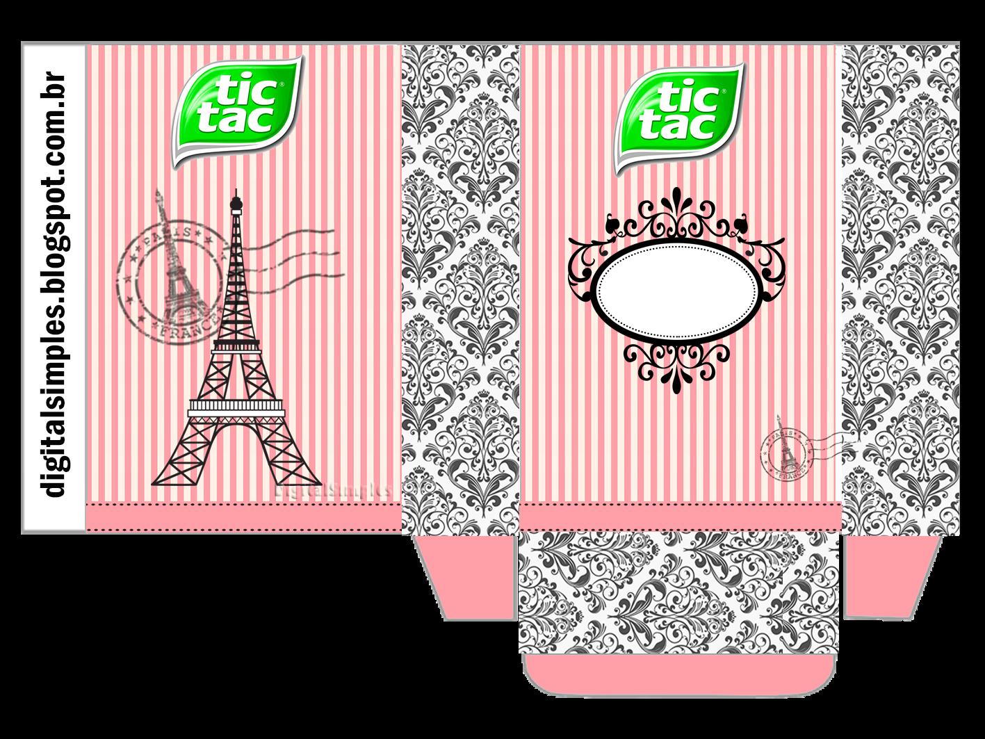 Kit Personalizado Tema Festa Paris Para Imprimir Convites