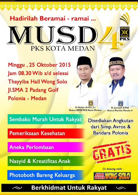 Panitia Himbau Kader dan Masyarakat Hadiri Rangkaian Musda Ke-4 PKS Kota Medan