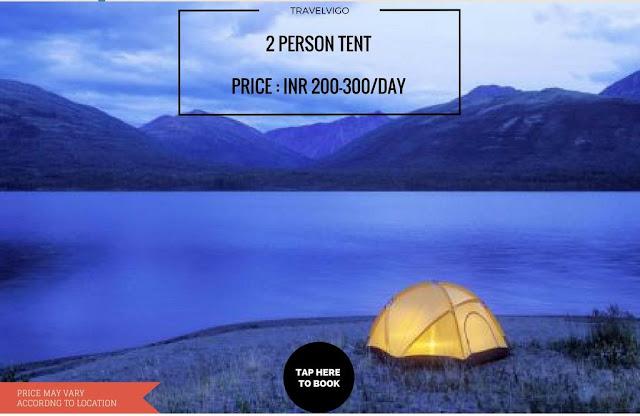 2 person tent for rent in Delhi