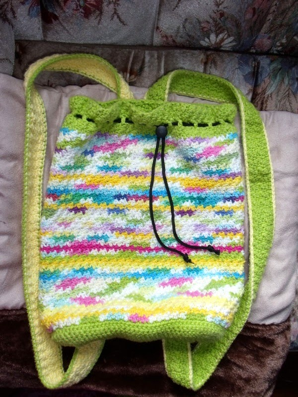 Crocheted Boho Backpack Purse Pattern
