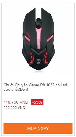 Chuột Chuyên Game R8 1632 có Led cực chất