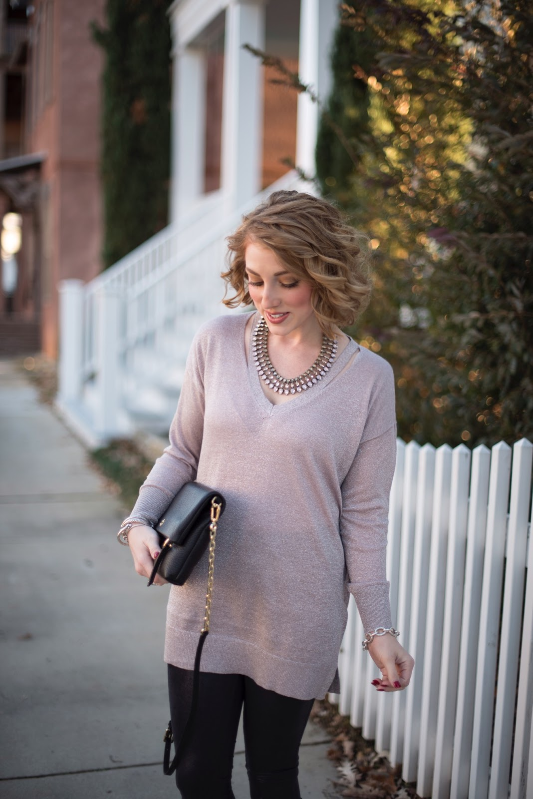 Metallic Sweater - Something Delightful Blog