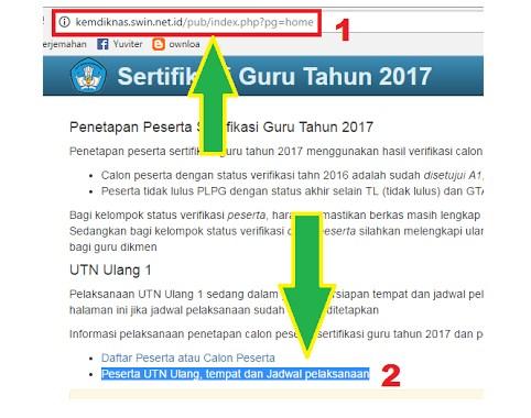 Cara Cek Jadwal dan Tempat UKG (UTN) Ulang 2017  Sumber: http://www.sekolahdasar.net/2017/04/cara-cek-jadwal-dan-tempat-ukg-utn.html#ixzz4dKtBmk23
