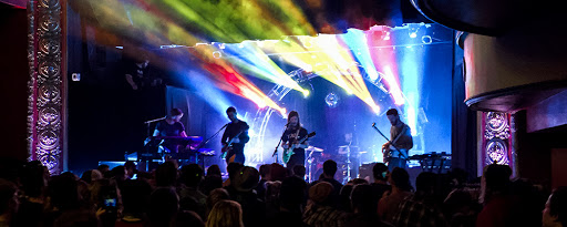 moon taxi plays on stage at the majestic theater in madison