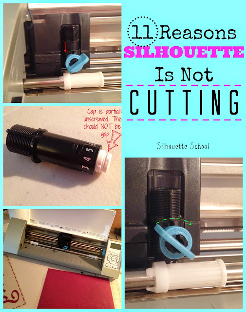 silhouette not cutting, silhouette cameo won't cut, cameo not cutting