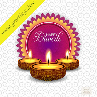 Beautiful Diwali greetings live celbrations image