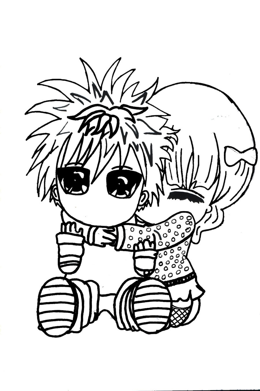 Cute Chibi Couple Sketches Our Healthy Tipsblogspotcom