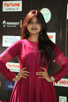 Monal Gajjar in Maroon Gown Stunning Cute Beauty at IIFA Utsavam Awards 2017 037.JPG