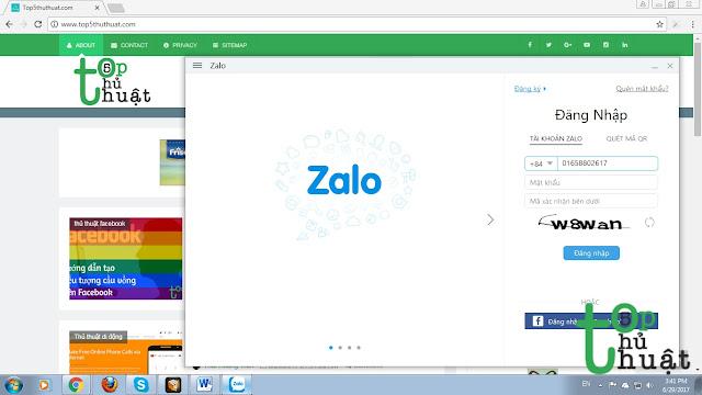 Nhập chính xác số điện thoại mà bạn đã đăng ký tài khoản Zalo