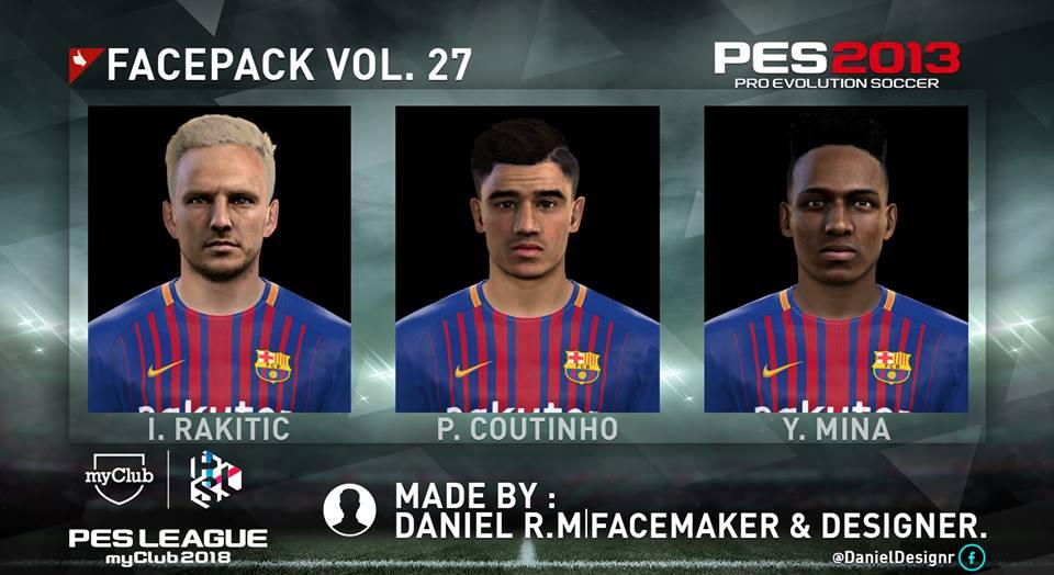 f8092055d PES 2013 FC Barcelona Mini Face-Pack 2018