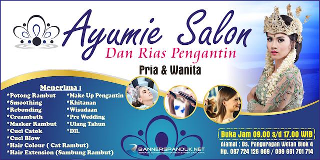 Banner Spanduk Salon Rambut & Kecantikan