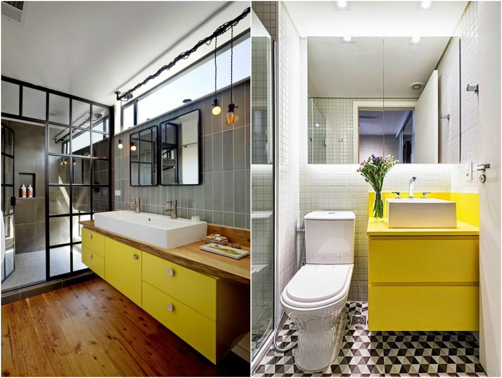 Simplesmente Decor: Gabinete de Banheiro Colorido #B39714 1600 1206