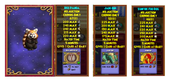 Wizard101 where to get the Red Panda pet