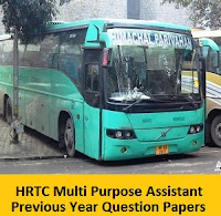 HRTC Multi Purpose Assistant Previous Year Question Papers