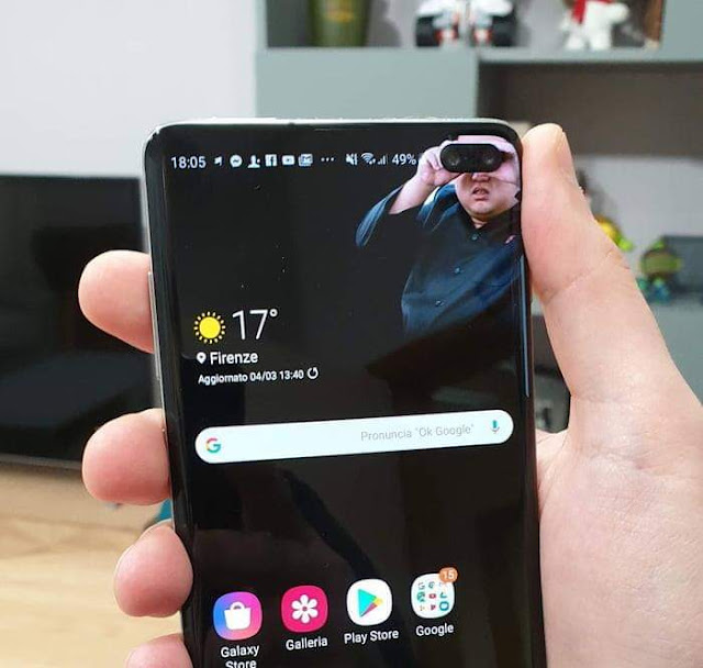 تحميل خلفيات Punch-Hole Camera Wallpapers للهواتف Samsung Galaxy S10 و S10 Plus