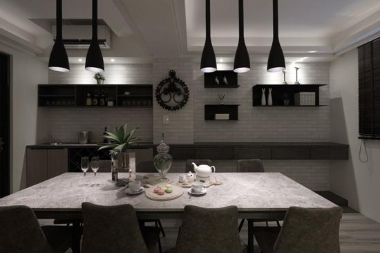 高雄采顥室內設計師將一樓多功能室賦予空間多元利用的想像,要正式或輕鬆都可以!