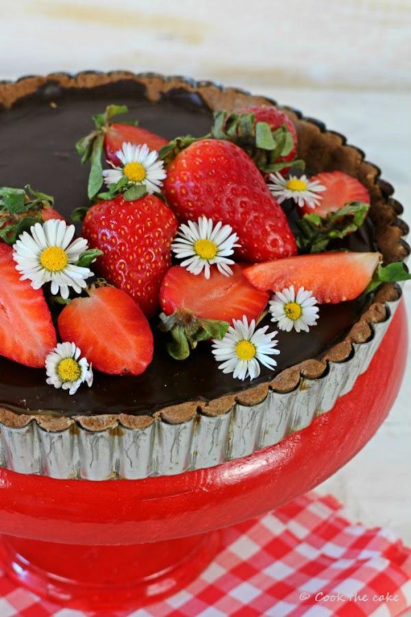 toffee-chocolate-tart, tarta-de-toffee-y-chocolate, salted-caramel-tart