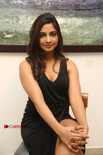 Telugu Actress Kamna Singh Stills in Black Dress at Bharat Thakur Art Exhibition Launch  0134.jpg