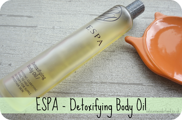 espa detoxifying body oil review