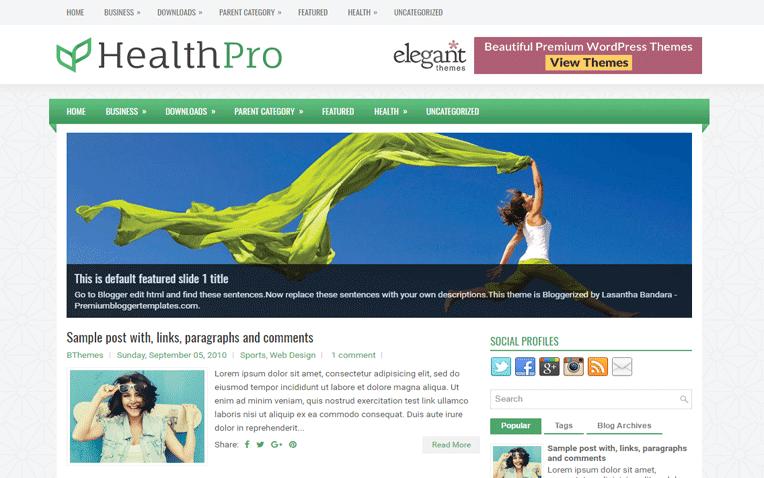 HealthPro Free Blogger Template