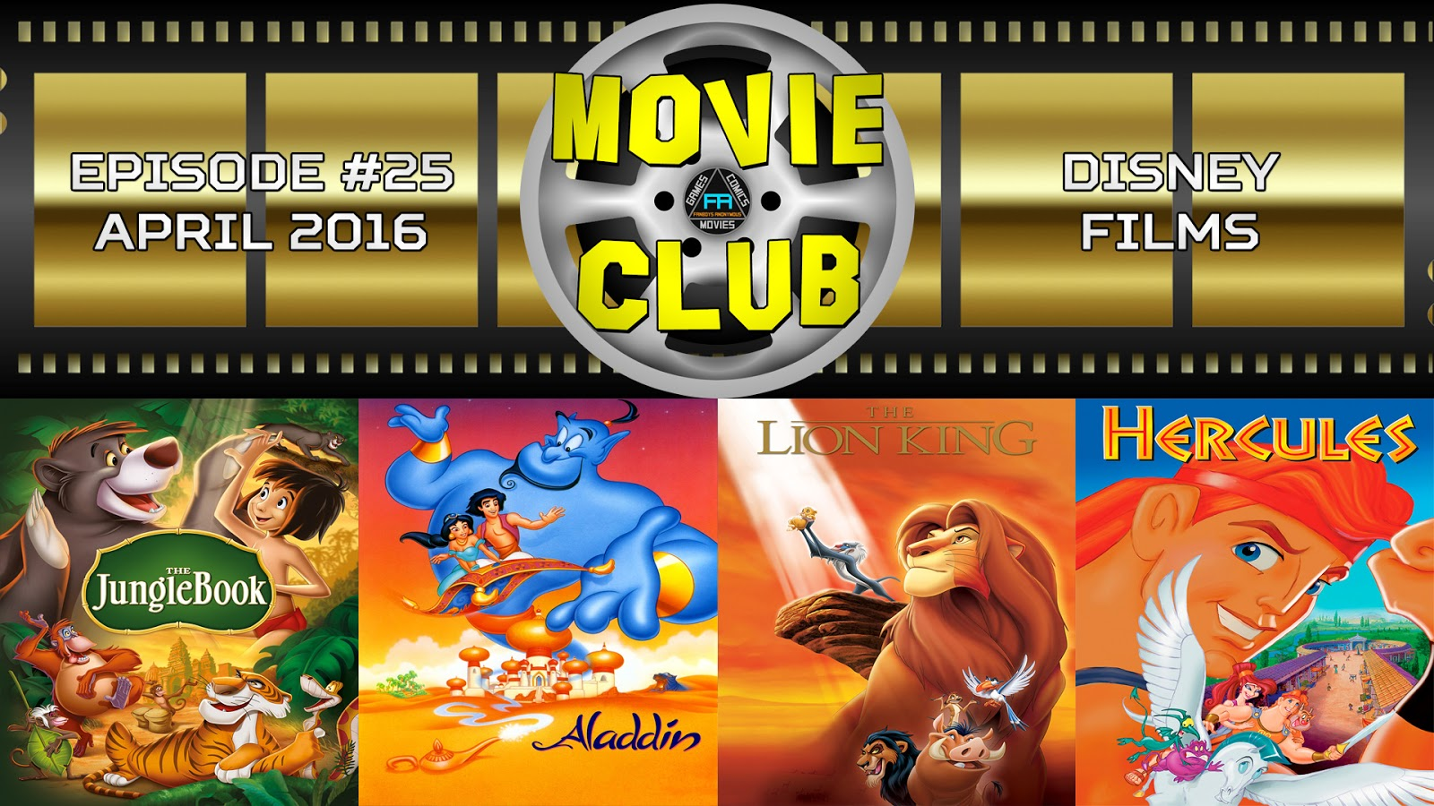 The Jungle Book, Aladdin, The Lion King, Hercules