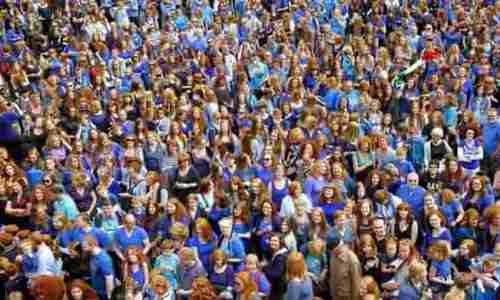 5 тысяч людей с рыжими волосами из 80 стран