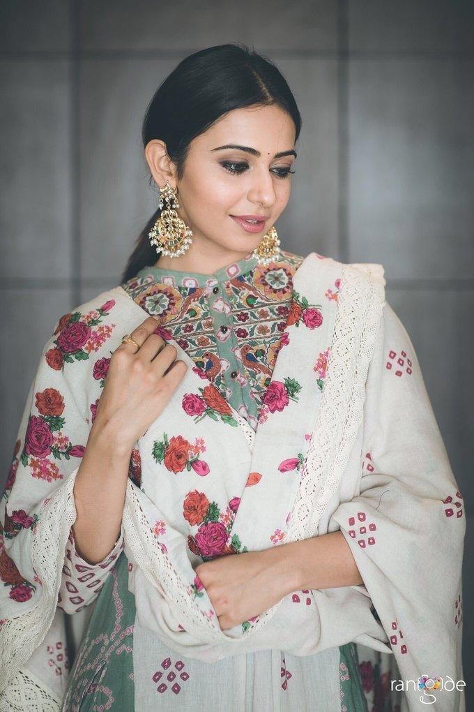 Rakul Preet Singh Photos For Wedding Event In White Dress