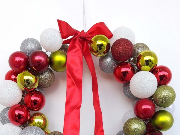 Christmas DIY - Make a bauble wreath