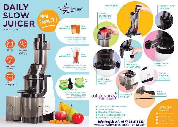 Spesifikasi dan Kegunaan Daily Slow Juicer