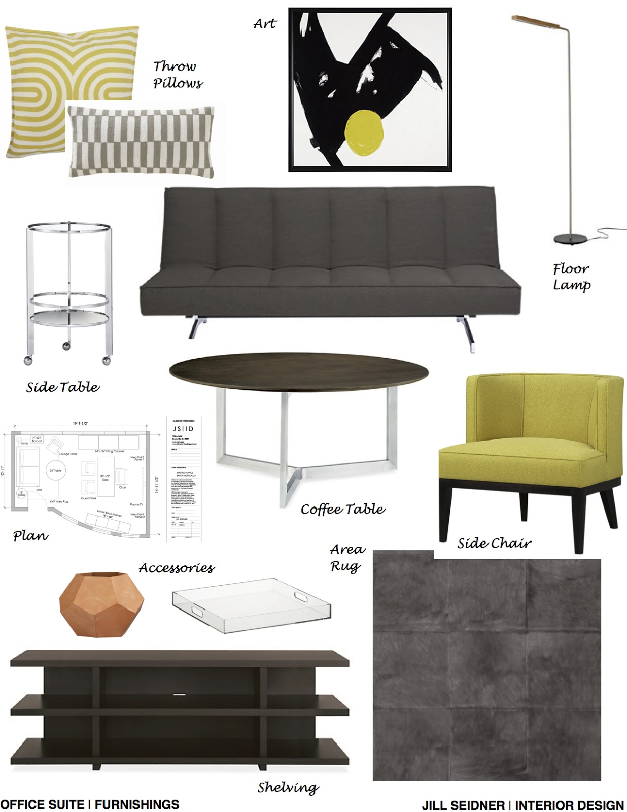 Jill Seidner Interior Design Concept Boards