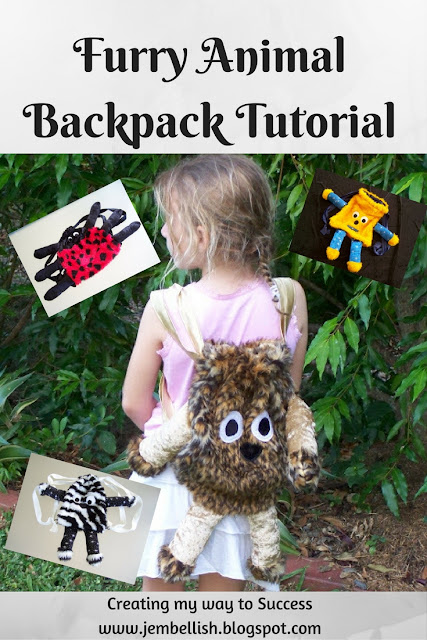 Furry Animal Backpacks