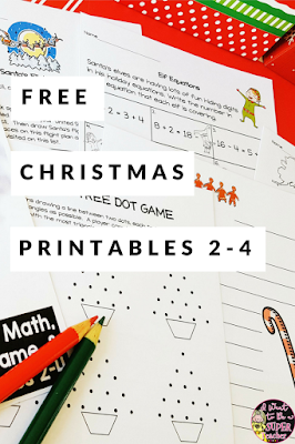 If you're looking for some FREE Christmas printables you can use for holiday centers, fast finishers, homework, or as a holiday option during your classroom Christmas party, check out these four December Holiday Fun Printables. Includes math, US geography, letter writing, and partner game printables. These ideas are perfect for kids in 2nd, 3rd, or 4th grade classrooms. #christmas #education #secondgrade #thirdgrade #fourthgrade #freeprintables #freebie #teacherspayteachers #tpt #teachers
