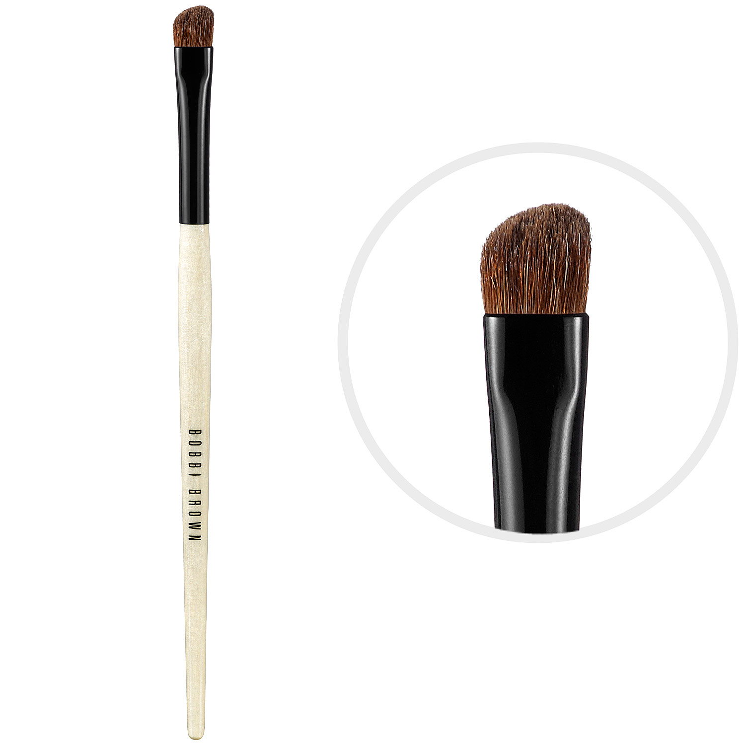 types of eye makeup brushes. the angled eye shadow brush or contour is then used for layering colour and creating hard lines along eyelid crease. types of makeup brushes
