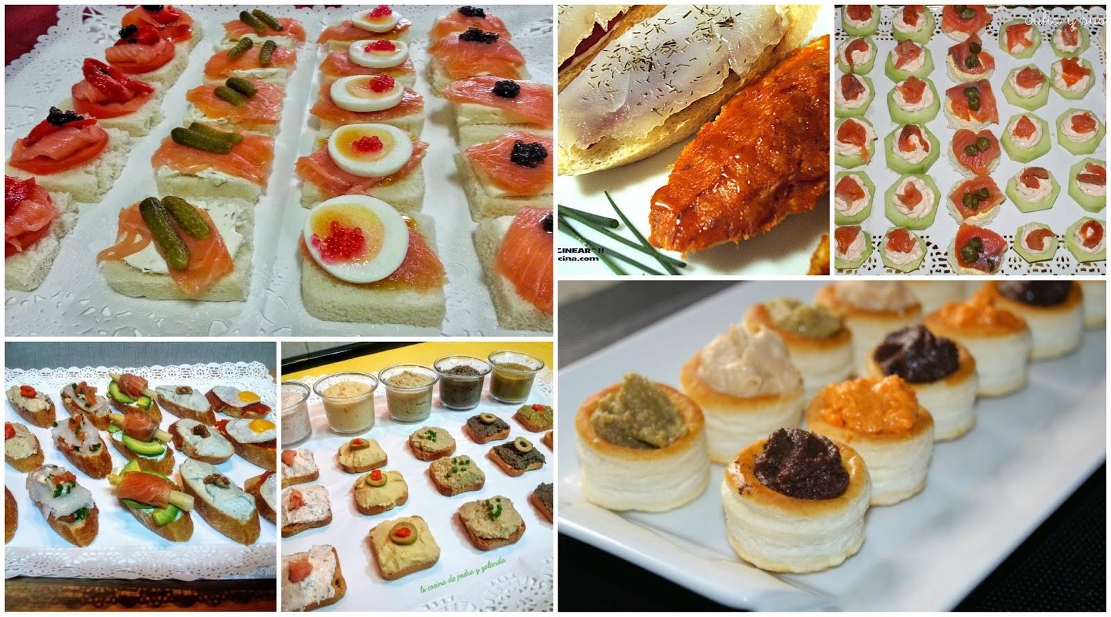 Montaditos tostas y canap s variados la cocina de pedro for Canapes sencillos y rapidos