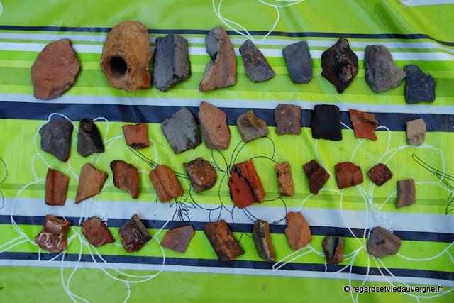 Fragments de poteries anciennes, Auvergne.