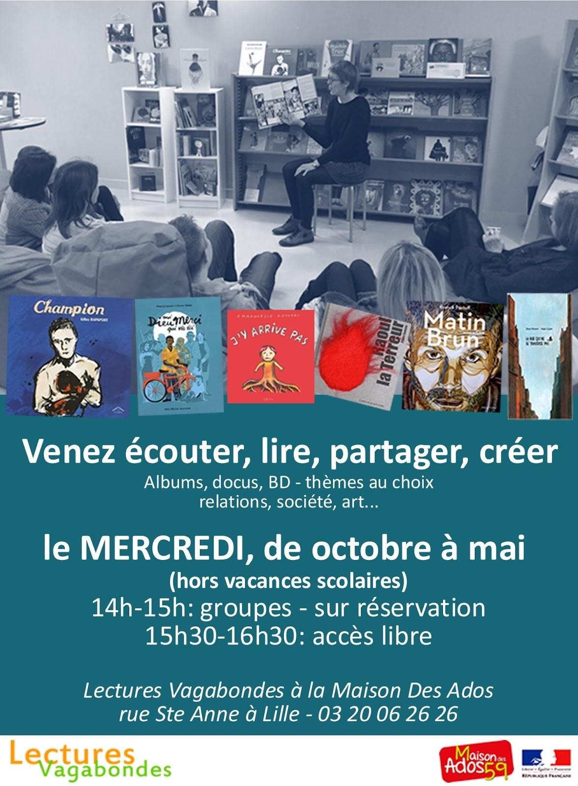 Le blog de l 39 association lectures vagabondes lille des for Maison des ados lille