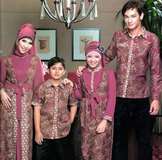 Batik muslim sarimbit untuk hari raya idul fitri