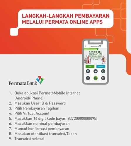 Tata Cara Pembayaran VA Bank Permata melalui Permata Online Apps