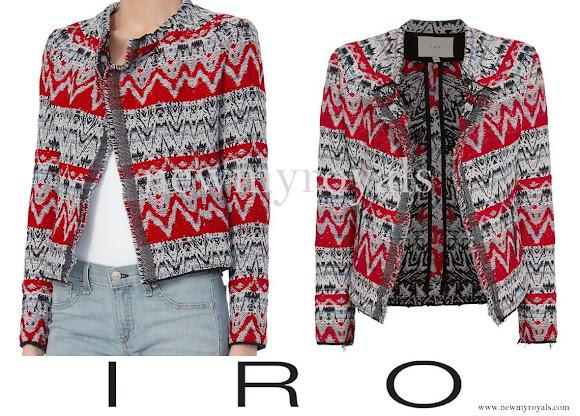 Crown Princess Mary wore IRO Kroe Jacquard Crop Jacket