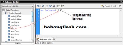 Tombol Play dan Stop, tutorial tentang membuat tombol play dan stop pada flash, play dan stop berguna untuk mengontrol mulai dan berhenti nya animasi.