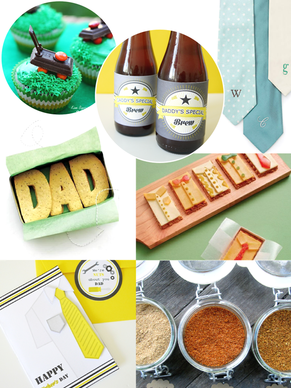 Father's Day Handmade Gift, Card and Food Ideas  - BirdsParty.com