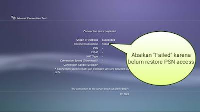 Cara setting internet PS3 menggunakan wifi