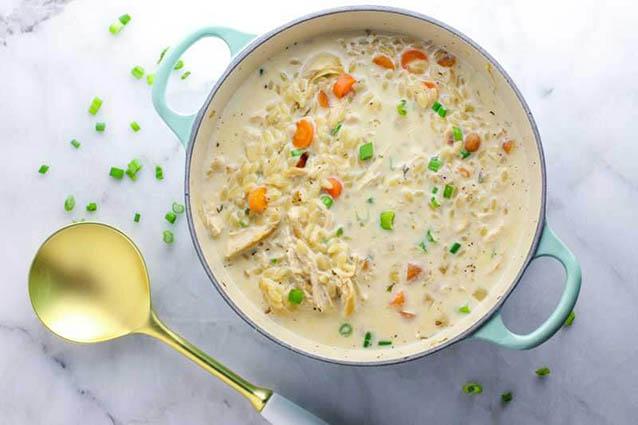 Creamy Chicken Orzo Soup - Eazy Peazy Mealz
