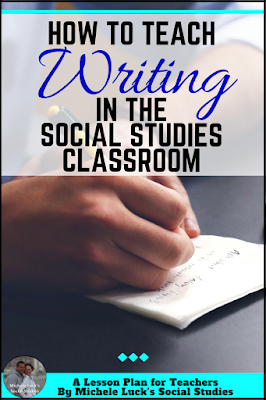 Writing in the middle or high school Social Studies Classroom can be a great challenge. Here are tips, ideas, and guides to make it easier and more memorable for students.