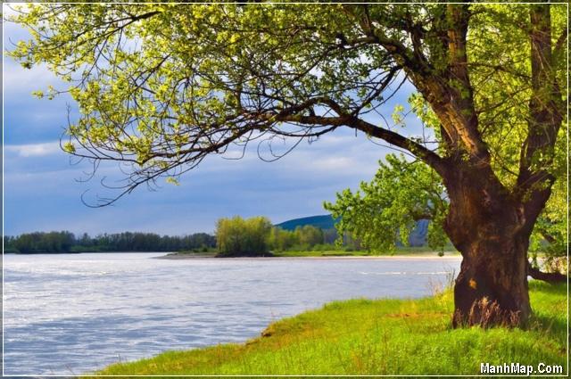 con sông quê nước chảy êm đềm