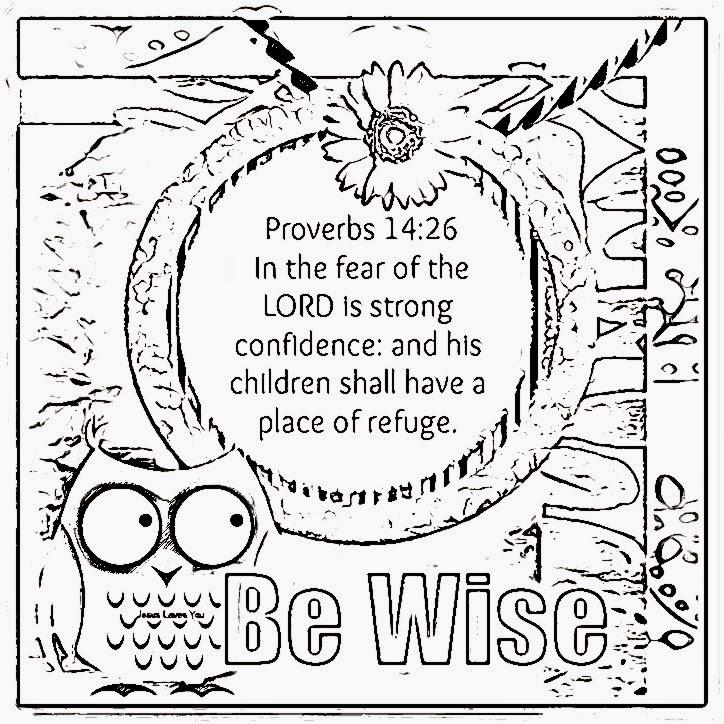 Children's Gems In My Treasure Box: Wisdom Coloring Sheets 4