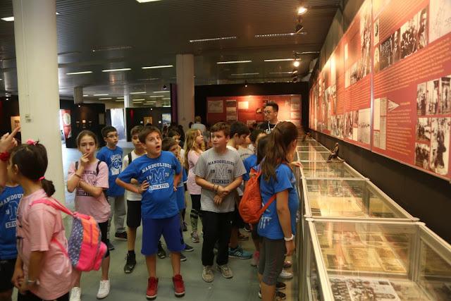"""Μαθητές Δημοτικού των Εκπαιδευτηρίων Μαντουλίδη επισκέφθηκαν την πολυθεματική έκθεση """"Πόντος: Δικαίωμα και Υποχρέωση στη Μνήμη"""""""