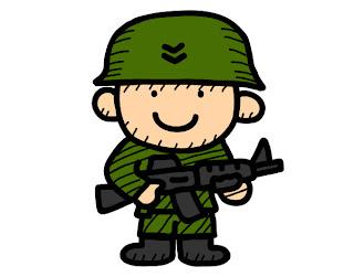 Dia do Soldado desenho colorido